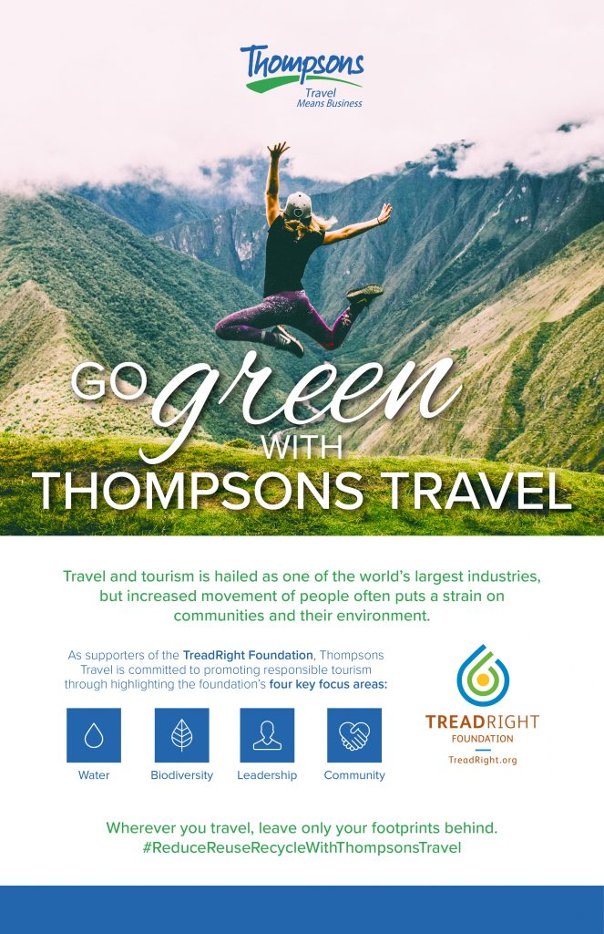 Go Green with Thompsons Travel - Infographic